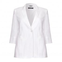 Marina Rinaldi white tailored linen JACKET - Plus Size Collection