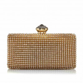 C.L. GOLD DIAMANTE EVENING CLUTCH BAG - Plus Size Collection