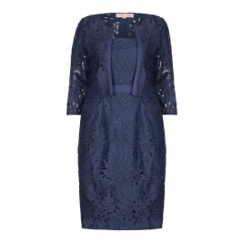 CABOTINE NAVY LACE DRESS AND JACKET - Plus Size Collection