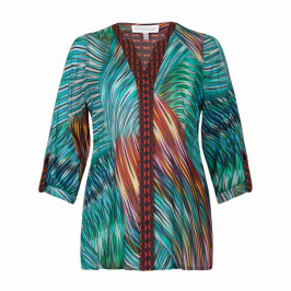 CHALOU Brightly patterned BLOUSE - Plus Size Collection