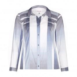 CHALOU blue stripe Shirt-JACKET - Plus Size Collection
