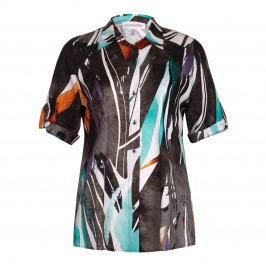 CHALOU abstract print SHIRT - Plus Size Collection