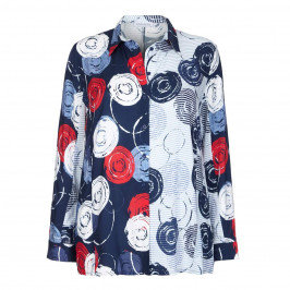 CHALOU CIRCLE PRINT SHIRT - Plus Size Collection