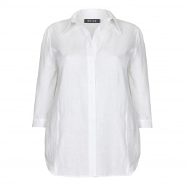 BEIGE LABEL PRINCESS CUT LINEN SHIRT - Plus Size Collection