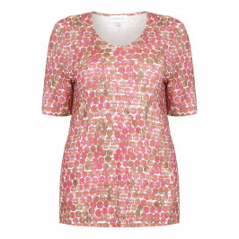 CHALOU pink print T SHIRT - Plus Size Collection