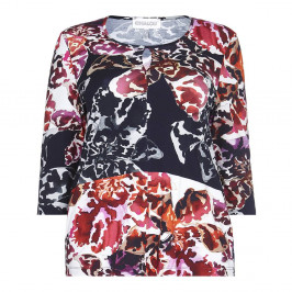 CHALOU magenta print TOP - Plus Size Collection