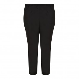 CHALOU black cropped TROUSERS - Plus Size Collection