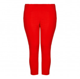 CHALOU red embellished-ankle Cropped Trousers - Plus Size Collection