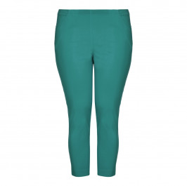 CHALOU turquoise embellished-ankle Cropped Trousers - Plus Size Collection