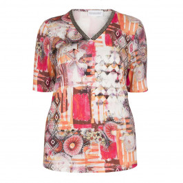 Chalou top with embellished v-neck - Plus Size Collection
