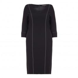MARINA RINALDI black contrast stitched dress - Plus Size Collection