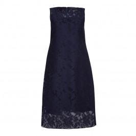 Marina Rinaldi navy tulle lace DRESS with opt. sleeves - Plus Size Collection