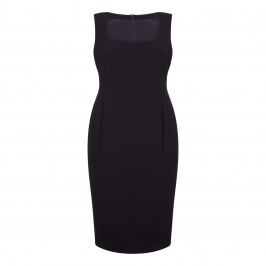 MARINA RINALDI BLACK SHEATH DRESS WITH OPTIONAL SLEEVES - Plus Size Collection