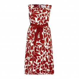Marina Rinaldi red textured cotton print DRESS - Plus Size Collection
