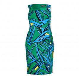 Marina Rinaldi turquoise print DRESS - Plus Size Collection
