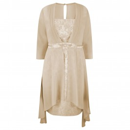 VEROMIA DRESS WITH FAUX COAT - Plus Size Collection