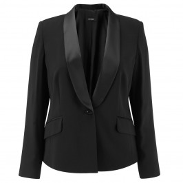 Persona black satin collar tuxedo jacket - Plus Size Collection