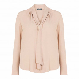ELENA MIRO SILK BLEND PUSSYBOW BLOUSE - Plus Size Collection