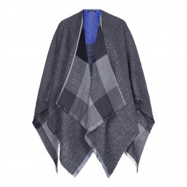 Elena Miro herringbone and check reversible Cape - Plus Size Collection