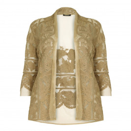 ELENA MIRO sand lace CARDIGAN - Plus Size Collection