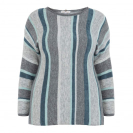 ELENA MIRO LUREX STRIPE SWEATER - Plus Size Collection