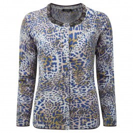 ELENA MIRO beaded leopard print CARDIGAN - Plus Size Collection