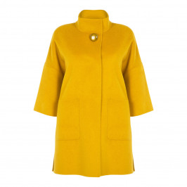 ELENA MIRO MUSTARD DOUBLE FACE COAT - Plus Size Collection