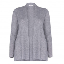 ELENA MIRO CARDIGAN FRONT POCKETS SILVER  - Plus Size Collection