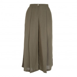 ELENA MIRO LINEN BLEND CULOTTE - Plus Size Collection