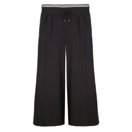 ELENA MIRO black stretch crepe CULOTTES - Plus Size Collection