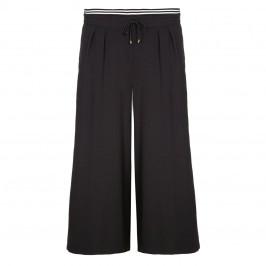 ELENA MIRO black stretch crepe CULOTTES - Plus Size Collection