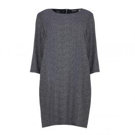 ELENA MIRO herringbone crepe DRESS - Plus Size Collection
