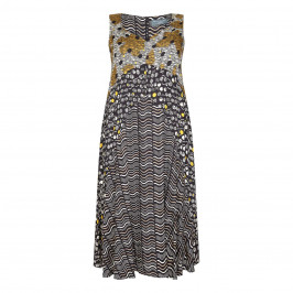 ELENA MIRO PRINTED MIDI DRESS - Plus Size Collection