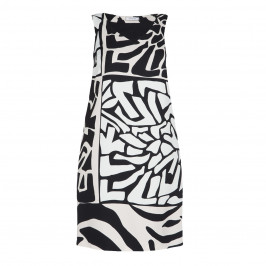 ELENA MIRO ABSTRACT PRINT DRESS OPTIONAL SLEEVES - Plus Size Collection