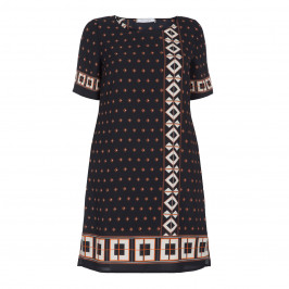 ELENA MIRO BORDER PRINT DRESS - Plus Size Collection