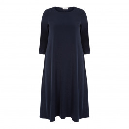 ELENA MIRO FLUID DRESS NAVY - Plus Size Collection