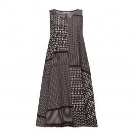ELENA MIRO PATCHWORK PRINT DRESS - Plus Size Collection