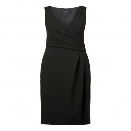 ELENA MIRO black wrap DRESS with optional sleeves - Plus Size Collection