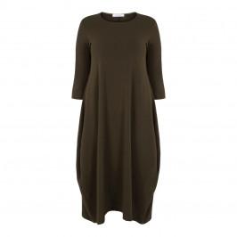 ELENA MIRO BUBBLE HEM DRESS OLIVE - Plus Size Collection