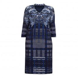 Elena Miro navy print DRESS - Plus Size Collection