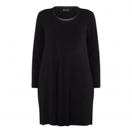 ELENA MIRO BLACK LIGHT JERSEY CREPE DRESS - Plus Size Collection