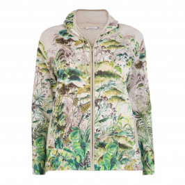 ELENA MIRO BOTANICAL PRINT HOODY - Plus Size Collection