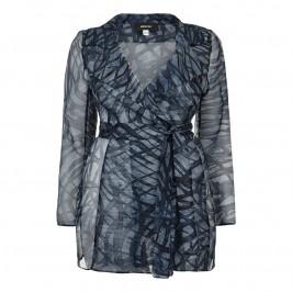 Elena Miro silk chiffon navy JACKET - Plus Size Collection