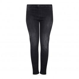 ELENA MIRO black distressed embellished narrow leg JEANS - Plus Size Collection