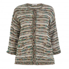 ELENA MIRO KNITTED JACKET WITH LUREX THREAD - Plus Size Collection