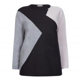ELENA MIRO INTARSIA SWEATER - Plus Size Collection
