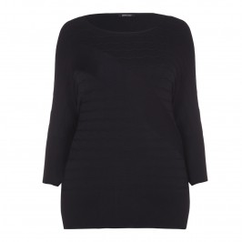ELENA MIRO black textured KNITTED TUNIC - Plus Size Collection