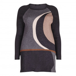 ELENA MIRO lurex intarsia KNITTED TUNIC - Plus Size Collection
