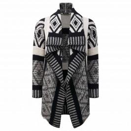 ELENA MIRO ETHNIC INTARSIA Long Cardigan - Plus Size Collection