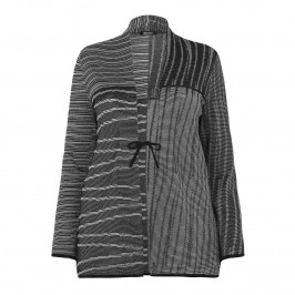 ELENA MIRO abstract metallic stripes CARDIGAN - Plus Size Collection
